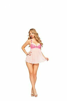 (TG. S) rosa Seven Til Midnight Beautiful Babydoll Set piccolo Bouquet