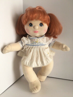 My child doll Beautiful Blue/Lavender Eyes Red Hair Double Piggy Girl
