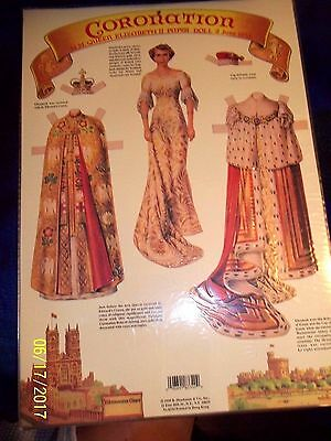 QUEEN ELIZABETH CORONATION PAPER DOLL (Lot of 12) MINT Factory Sealed Shackman