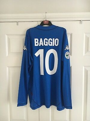 Brescia Home Football Shirt Baggio #10 Adults Large