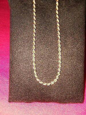 14k solid gold  rope chain not scrap and 14k broken chain see pics REVISED.  Wow