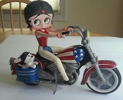 Betty Boop Born to Ride Motorcycle Figurine Danbury Mint