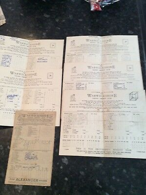 6 X Warwickshire Scorecards From 1949 To 1959 V Gloucestershire