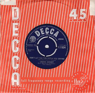 LOUISE CORDET - DON'T LET THE SUN CATCH YOU CRYING original 1964 UK DECCA M-