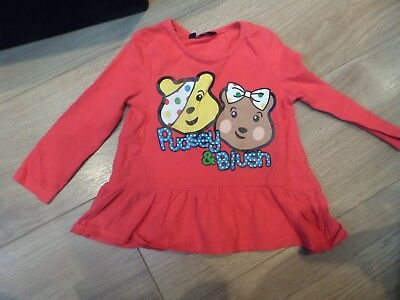Girls Pudsey Bear Top - Children in Need 12-18m excellent condition
