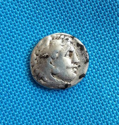 Alexander the Great, 336-323 BC, Silver Drachm, Abydos Mint, 4.1g, Good Cond