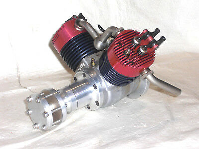 "Rare, British, Unused ""magnum-180V"", Vee-Twin, Open Rocker,4-Stroke Aero Engine"