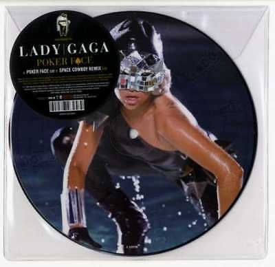 """Lady Gaga - Poker Face 7""""  Picture Disc Vinyl Pic New / Mint Stickered Sleeve"""