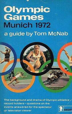1972 Olympic Games Munich - Book by Tom McNab - Scarce