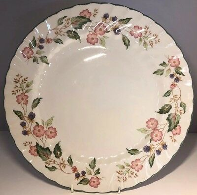 "Superb Bhs Victorian Rose 12.5"" Round Cake / Serving Plate / Platter - Nice!"