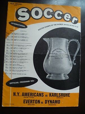 Everton v Dynamo Bucharest (Played in USA) 7th June 1961 Friendly