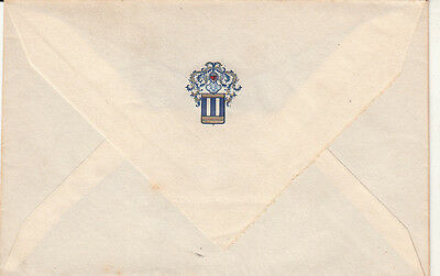 Italian vintage letter cover knight crest