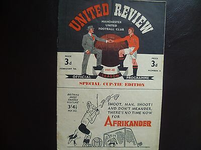 Manchester United v Charlton Athletic February 1948 FA Cup