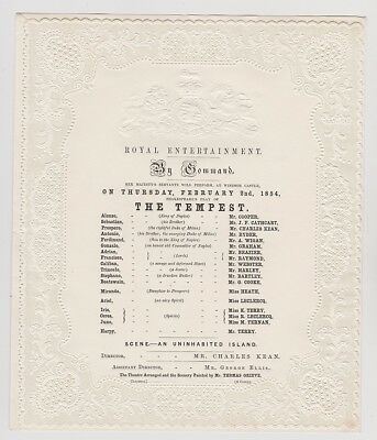 Royal Entertainment By Command. The Tempest, Windsor Castle, 1857