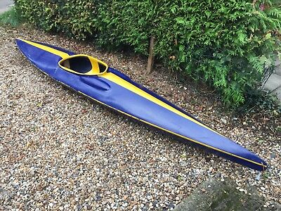 Fiberglass Kayak Canoe - Ideal For Small Adult / Teenager / Youth 7 yrs up