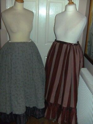 Ladies Victorian Period Theatrical Skirts X 2 Bermans And Nathans - Barnum Show