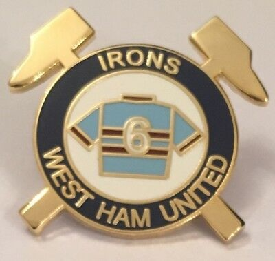 WEST HAM UNITED Irons Number6 Vintage Rare Collectable Enamel Football Pin BADGE