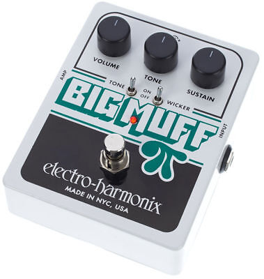 Electro Harmonix Big Muff Pi with Tone Wicker guitar effects pedal guitar FX