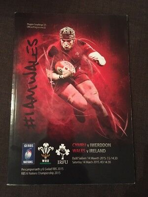 Wales v Ireland 2015, 6 nations Rugby programme Excellent Condition