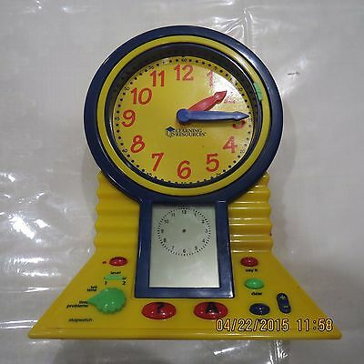 Learning Resources Talking Clever Clock In Good Condition Telling The Time