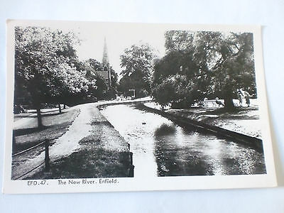 ENFIELD EFD 47 Middlesex NEW RIVER Vintage Frith Real Photograph Postcard RP