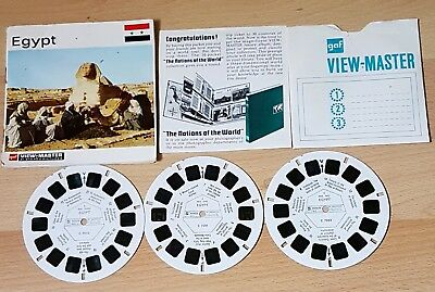 Gaf View-Master c 705 Reels x 3 - Egypt - Stereo Pictures - Complete