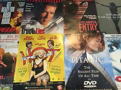 Film / Cinema Adverts / Collection Of A4 Adverts For Cinema / Film Joblot 150 +