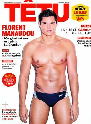 TÊTU, novembre 2014, #204, Florent Manaudou, gay interest