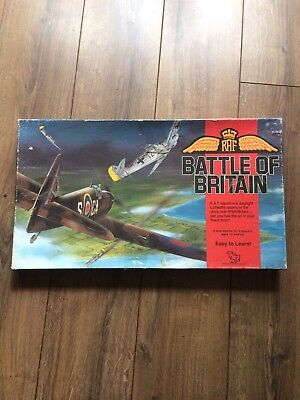 Raf Battle Of Britain Vintage Board Game By Tsr Complete Rare