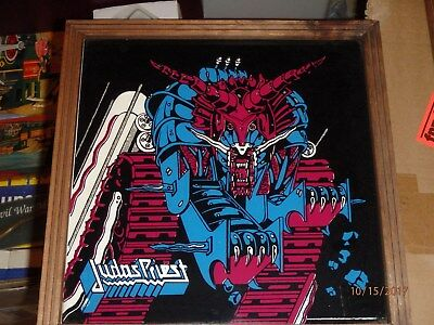 Judas Priest Carnival Mirror 12 Inch Defenders of the Faith RARE Vintage