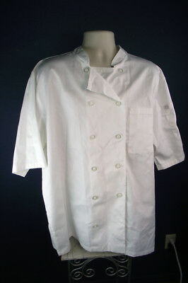 Chef Works Large White Chef Jacket Short Sleeve