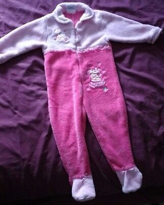 Peppa pig fluffy fleece all in one sleepsuit 12-18 months(could be worn up to 2)