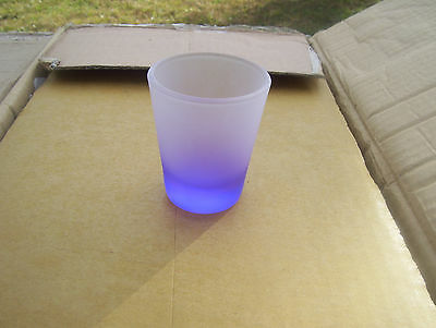 frosted purple shot glass... new... ~flawless~