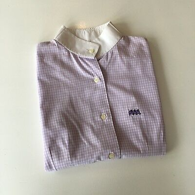 Purple Checked Equiline Show Shirt Size 38