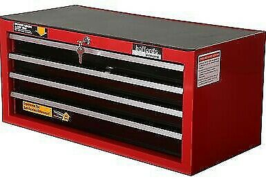 Halfords Professional Tool Chest Red 4 Drawer Intermediate Ball Bearing Slide