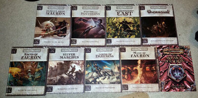 Dungeons & Dragons 3rd edition Forgotten Realms lot of 9 books + DM screen