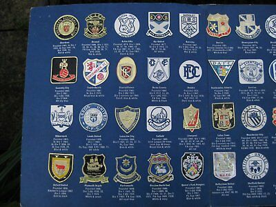 THE ESSO COLLECTION of FOOTBALL CLUB BADGES 1970's Incomplete but good donor