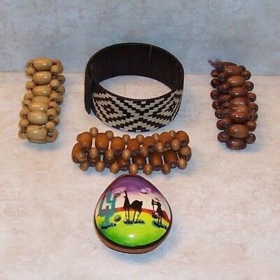 Authentic Hand Made Ecuador Lot of 3 Bracelets & Whistle!