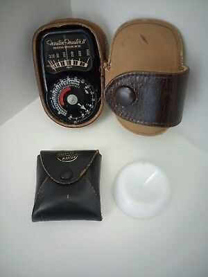 Vintage Weston Master II Universal Light Meter & Invercone with Leather Case