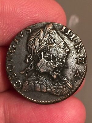 Very Odd 1775 Non-regal Geo III With Extra Metal, Hi Grade, from The Junk Pile