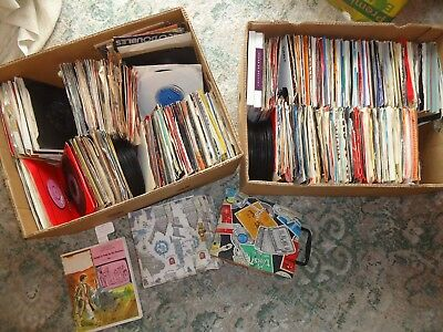 "joblot of 7"" x700 vinyl records singles,rock pop soul reggae,jazz,punk,new wave"