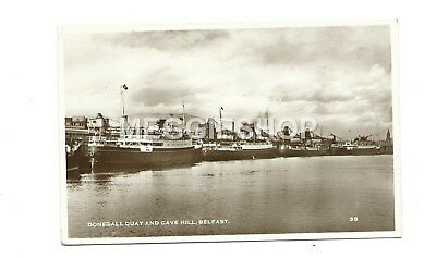 Northern Ireland : Belfast: Donegall Quay & Cave Hill 1956 Rp Pc Cruise Ships