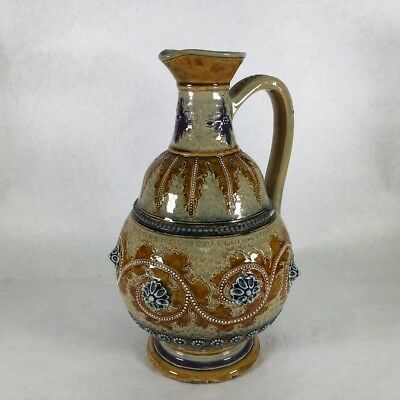 Doulton Lambeth, George Tinworth Jug dated 1875, perfect condition.