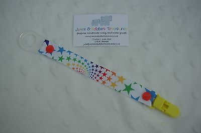 Dummies Clips ,Holder/Dummy/Soother/Pacifier/chain Rainbow Stars