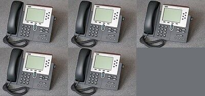 Lot of 5 Cisco CP-7960G IP Phone 7960 VoIP Business Phone
