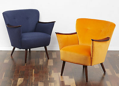 50s 60s 70s STYLE CLUB CHAIR VINTAGE ARMCHAIR MID CENTURY MODERN COCKTAIL CHAIR