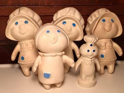 Phillsbury  1974 ,1979 rubber figurines Phillsbury dough boy salt