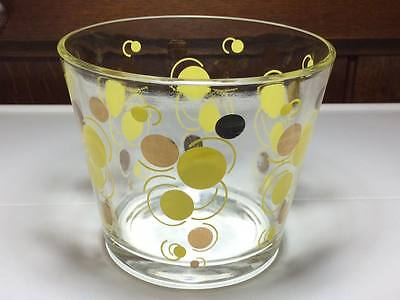 Federal atomic dot yellow and gold ice bucket