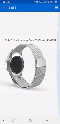SILVER STEEL MESH Large Wristband Band Strap For Samsung Galaxy GEAR S2 *CLASSIC