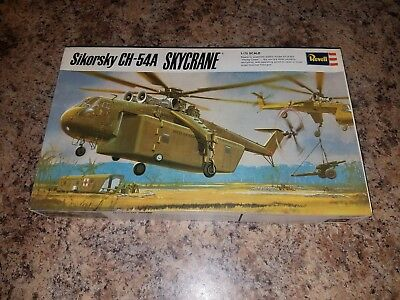 REVELL H-258 1/72 scale SIKORSKY CH-54A SKYCRANE HELICOPTER & 105mm GUN KIT MIB